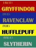 Be like a... Hogwarts Houses Poster