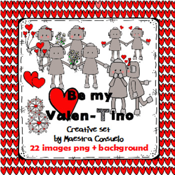 Be my Valen-Tino - creative clipart set 2017