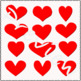 Be my Valentine! Red Hearts Cliparts!