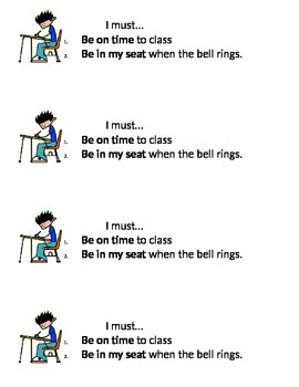 Be on Time To Class VIsual