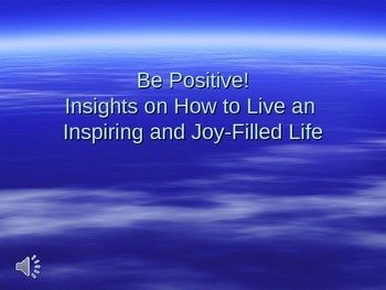 Be positive powerpoint