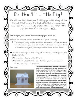 Be the 4th Little Pig - Project (Folktales)