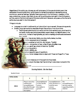 Be the Bard Activity