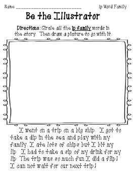 """""""Be the Illustrator and Reporter"""" Word family pack Level 1"""