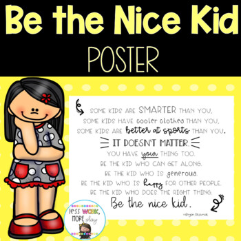 Be the Kid Quote Poster