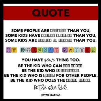 Be the Nice Kid Bulletin Board