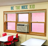 Be the Nice Kid | Cut out letters