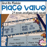 Place Value Error Analysis Task Cards
