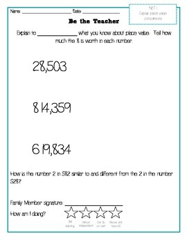 Be the Teacher Interactive Math Homework Grade 4