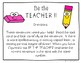Be the Teacher Task Cards