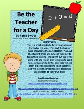 Be the Teacher for a Day!