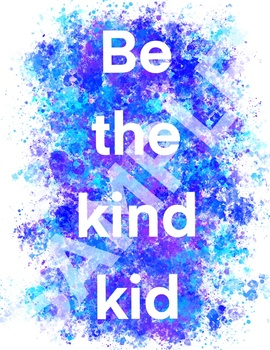 Be the kind kid poster