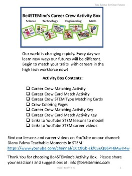 STEM Careers: Be4STEMinc Career Crew Activity Box