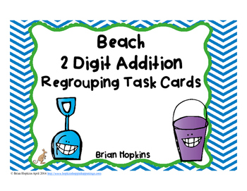 Beach 2 Digit Addition Regrouping