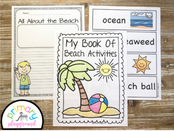 Beach Activities No Prep Math and Literacy Pack