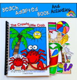 """Beach Adapted Book And Activities: """"The Crawly Little Crab"""""""