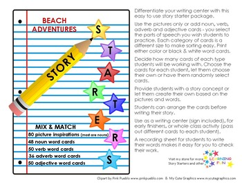 Beach Adventure Story Starter