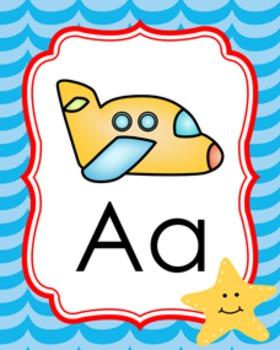 Beach Alphabet Posters A - Z
