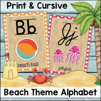 Alphabet Posters - Beach Theme