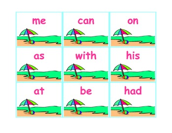 Beach Baby!  A Sight Word Game!