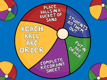 Beach Ball ABC Order - Digging up Fun!
