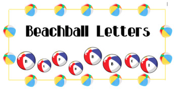 Beach Ball Alphabet