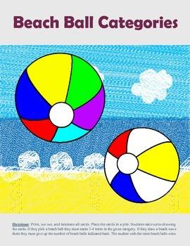 Beach Ball Categories
