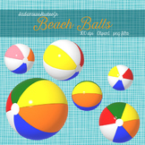 Beach Ball Clipart, 6 Colorful Beach Balls