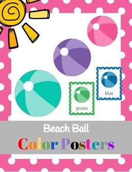 Beach Ball Color Posters (classroom decor)