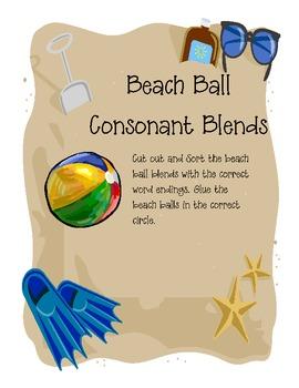 Beach Ball Consonant Blends