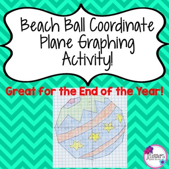 Beach Ball Coordinate Plane Graphing Activity! Great for t