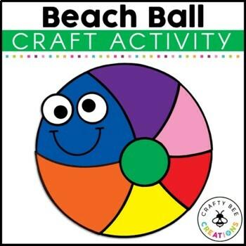 Beach Ball Cut and Paste