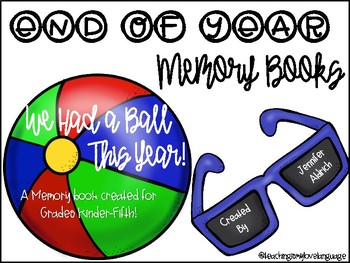 Beach Ball End of Year Memory Book!