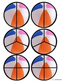 Beach Ball Fractions Cut and Paste for Autism