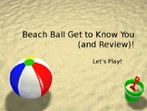 Beach Ball Get-To-Know-You Ice Breaker Activity