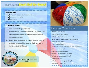 Team Builder Beach Ball Go-Round