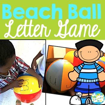 Beach Ball Letter Game
