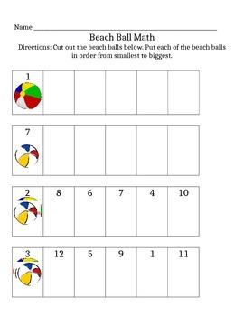Beach Ball Math Counting
