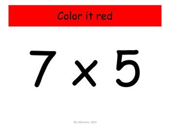 Beach Ball Multiplication Practice - Watch, Think, Color Mystery Pictures