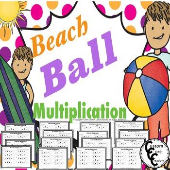 Beach Ball Multiplication to 100 Summer Fun
