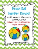 Beach Ball Number Bonds, Math Around the Room