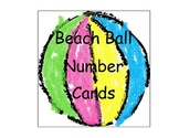 Beach Ball Number Calendar Cards