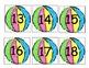 Beach Ball Number Calendar Cards