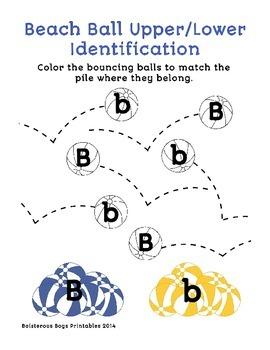 Beach Ball PreK Printable Learning Pack