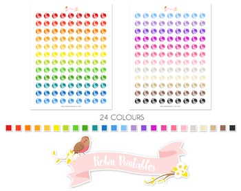 Beach Ball Printable Planner Stickers