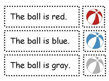 Beach Ball Reading Comprehension