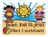 Beach Ball Rhymes { Silent E Worksheets}