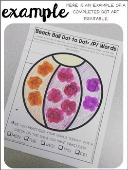 Beach Ball {Speech & Language Dot Art}