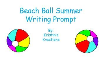 Beach Ball Summer Vacation Writing