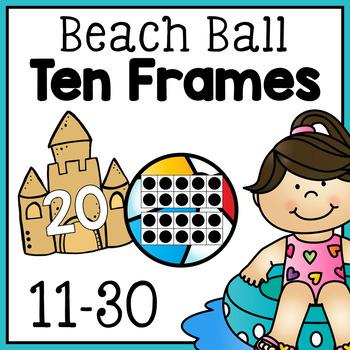 Beach Ball Ten Frames - Free
